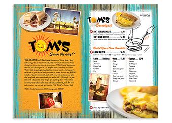 TOM's Menu Inside Spread